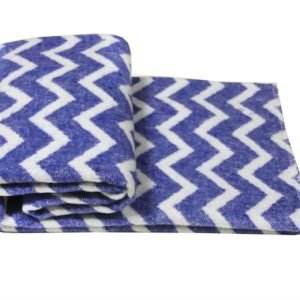 купить Детский Плед-Одеяло Vladi Зигзаг 100*140 blue Синий фото