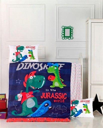 купить Детское постельное белье Lighthouse Dino Синий фото