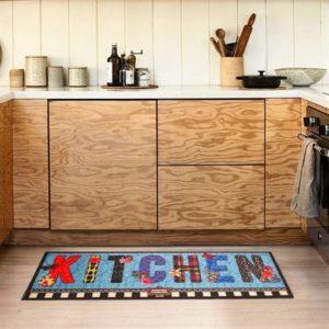 купить Коврик для кухни Cooky 50*125 Butterfly Kitchen Голубой фото