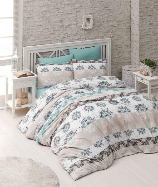 купить Комплект постельного белья Linda ранфорс 8826 Серый фото
