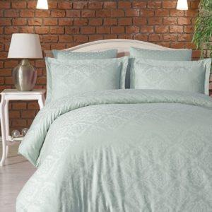купить Комплект постельного белья Zugo Home жаккард Ottoman mint Ментоловый фото