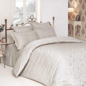 купить Комплект постельного белья Zugo Home жаккард Ottoman tas Серый фото