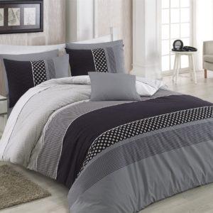 купить Комплект постельного белья Zugo Home ранфорс Eiffel V2 Черный|Серый фото