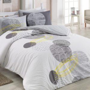 купить Комплект постельного белья Zugo Home ранфорс Illusion V1 Серый фото
