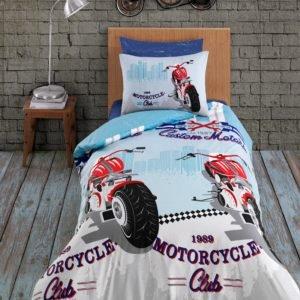 купить Комплект постельного белья Zugo Home ранфорс Racing Голубой фото