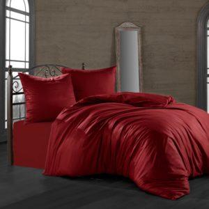 купить Комплект постельного белья Zugo Home сатин однотонный Bordo Красный фото