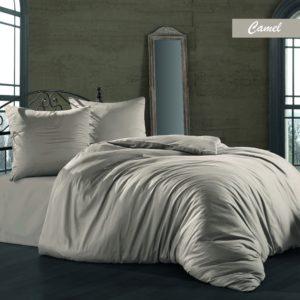 купить Комплект постельного белья Zugo Home сатин однотонный Camel Серый фото