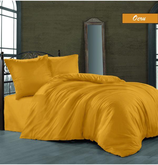 купить Комплект постельного белья Zugo Home сатин однотонный Oqru Желтый фото