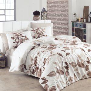 купить Комплект постельного белья Zugo Home сатин Fadeks V5 Коричневый фото