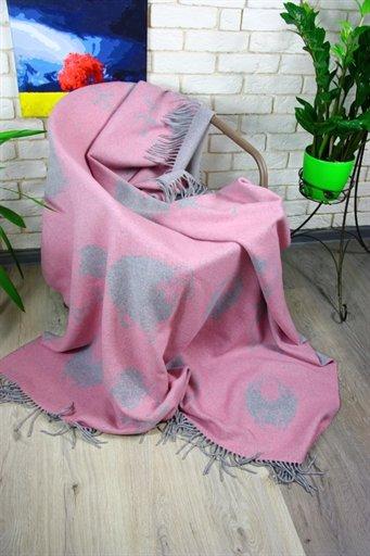 купить Плед Funny Moose 140*200 Розовый Розовый фото