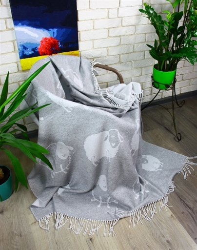 купить Плед Funny Moose 140*200 Серый Серый фото