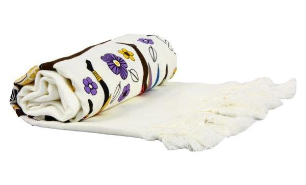 купить Пляжное Полотенце Bamboo Peshtemal 90*180 Africa New Кремовый фото