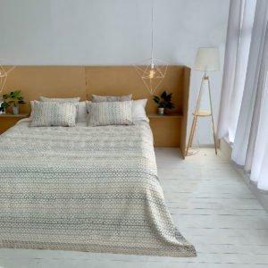 купить Покрывало Жаккард Prestij Textile Bali Бежевый фото