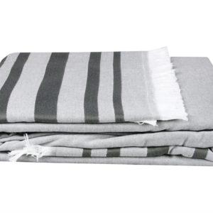 купить Покрывало Махровое Hobby Retro Peshtemal 200*220 Серый Серый фото