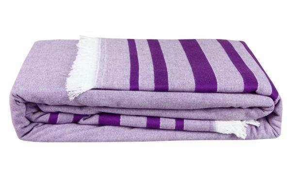 купить Покрывало Махровое Hobby Retro Peshtemal 200*220 Фиолетовый Фиолетовый фото
