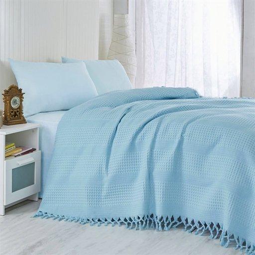 купить Покрывало-Плед Checkers 220*240 blue Голубой фото