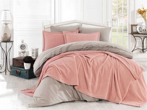 купить Покрывало С Наволочками Hobby Natural Set Розовый Розовый фото