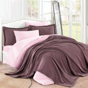 купить Покрывало С Наволочками Hobby Natural Set Фиолетовый Фиолетовый фото