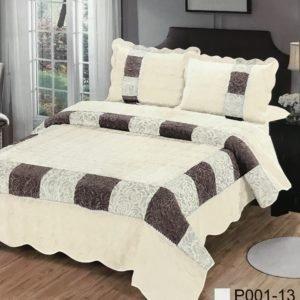 купить Покрывало С Наволочками Prestij Textile 02190 Кремовый фото