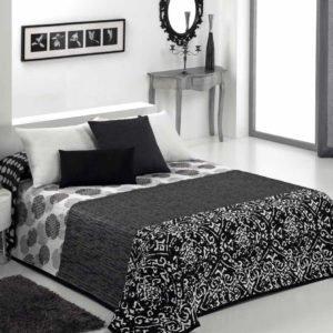 купить Покрывало двустороннее Canete Crono 90 Серый|Черный фото