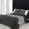 купить Покрывало двустороннее Canete Yelena 91 Серый|Черный фото
