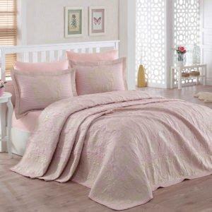 купить Покрывало двустороннее Dantela Vita Damasco Pudra Розовый фото