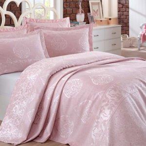 купить Покрывало двустороннее Dantela Vita Melis Sonil Pudra Розовый фото