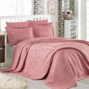 купить Покрывало двустороннее Dantela Vita Mina Gul Kurusu Розовый фото