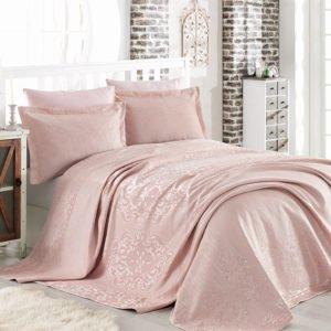 купить Покрывало двустороннее Dantela Vita Mina Pudra Розовый фото