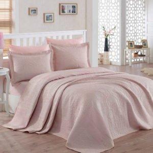 купить Покрывало двустороннее Dantela Vita Punto Pudra Розовый фото