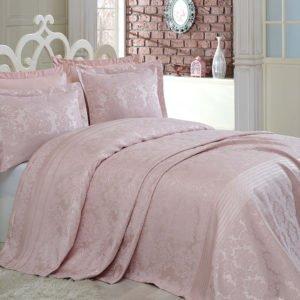 купить Покрывало двустороннее Dantela Vita Simay Pudra Розовый фото