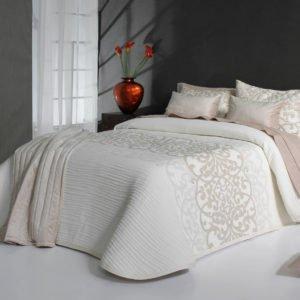 купить Покрывало двустороннее Reig Marti Pompey C01 Белый|Кремовый фото