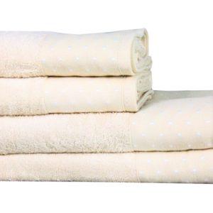 купить Полотенце Махровое Bamboo Puan Blanc Кремовый Кремовый фото