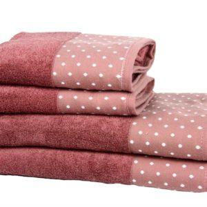купить Полотенце Махровое Bamboo Puan Blanc Розовый Розовый фото