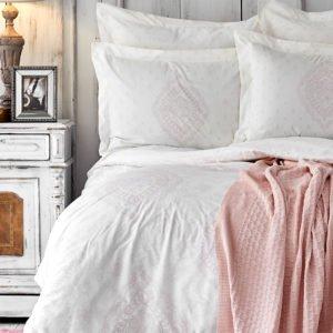 купить Постельное белье с пледом Karaca Home Desire 2020-1 pudra Розовый фото