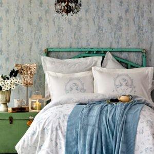 купить Постельное белье с пледом Karaca Home Trella mavi 2020-1 Голубой фото