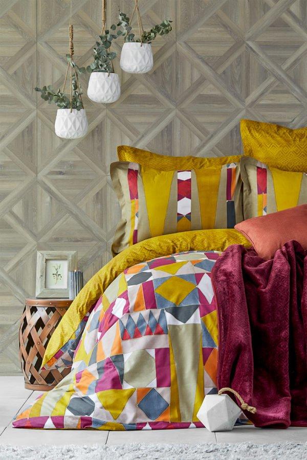купить Постельное белье с пледом Karaca Home Vitali Hardal 2020-1 Желтый фото