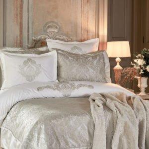 купить Постельное белье с покрывалом + плед Karaca Home Eldora gri 2020-1 Серый фото