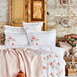 купить Постельное белье с покрывалом Karaca Home Annas somon 2020-1 Розовый фото