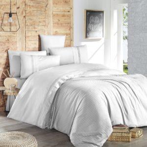 купить Постельное белье First Choice de luxe ranforce gala beyaz Белый фото