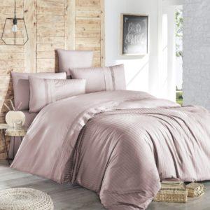 купить Постельное белье First Choice de luxe ranforce gala pudra Розовый фото