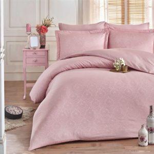 купить Постельное белье Hobby Exclusive Sateen Diamond Damask Розовый Розовый фото
