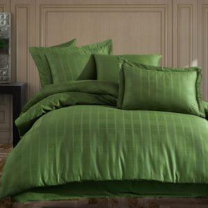 купить Постельное белье Hobby Exclusive Sateen Diamond Ekose Зеленый Зеленый фото