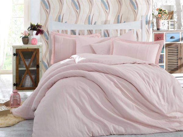 купить Постельное белье Hobby Exclusive Sateen Diamond Stripe Розовый фото