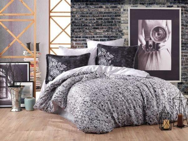 купить Постельное белье Hobby Exclusive Sateen Elvira Серый фото