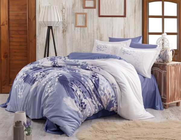 купить Постельное белье Hobby Exclusive Sateen Noemi blue Синий фото