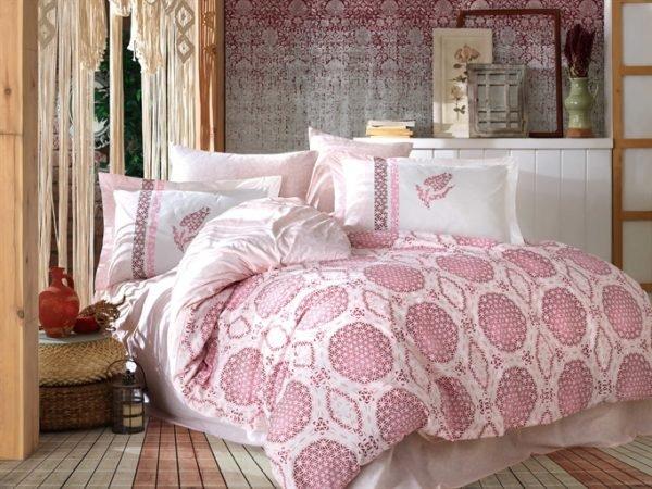 купить Постельное белье Hobby Poplin Diamond pink Розовый фото