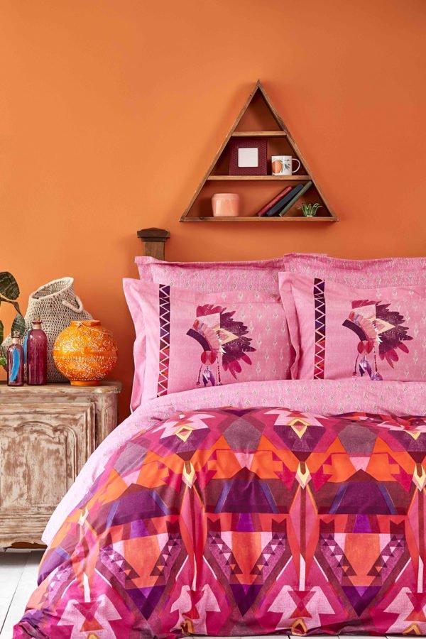 купить Постельное белье Karaca Home ранфорс Foxia fusya 2019-2 Розовый фото