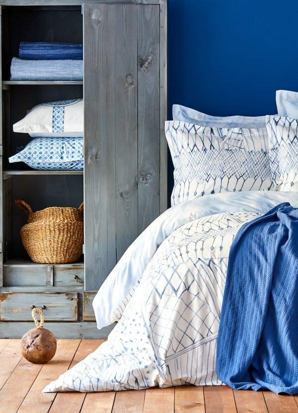 купить Постельное белье Karaca Home ранфорс Lisle mavi 2019-2 Голубой фото