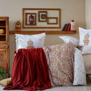 купить Постельное белье Karaca Home ранфорс Paula kiremit 2019-2 Коричневый фото